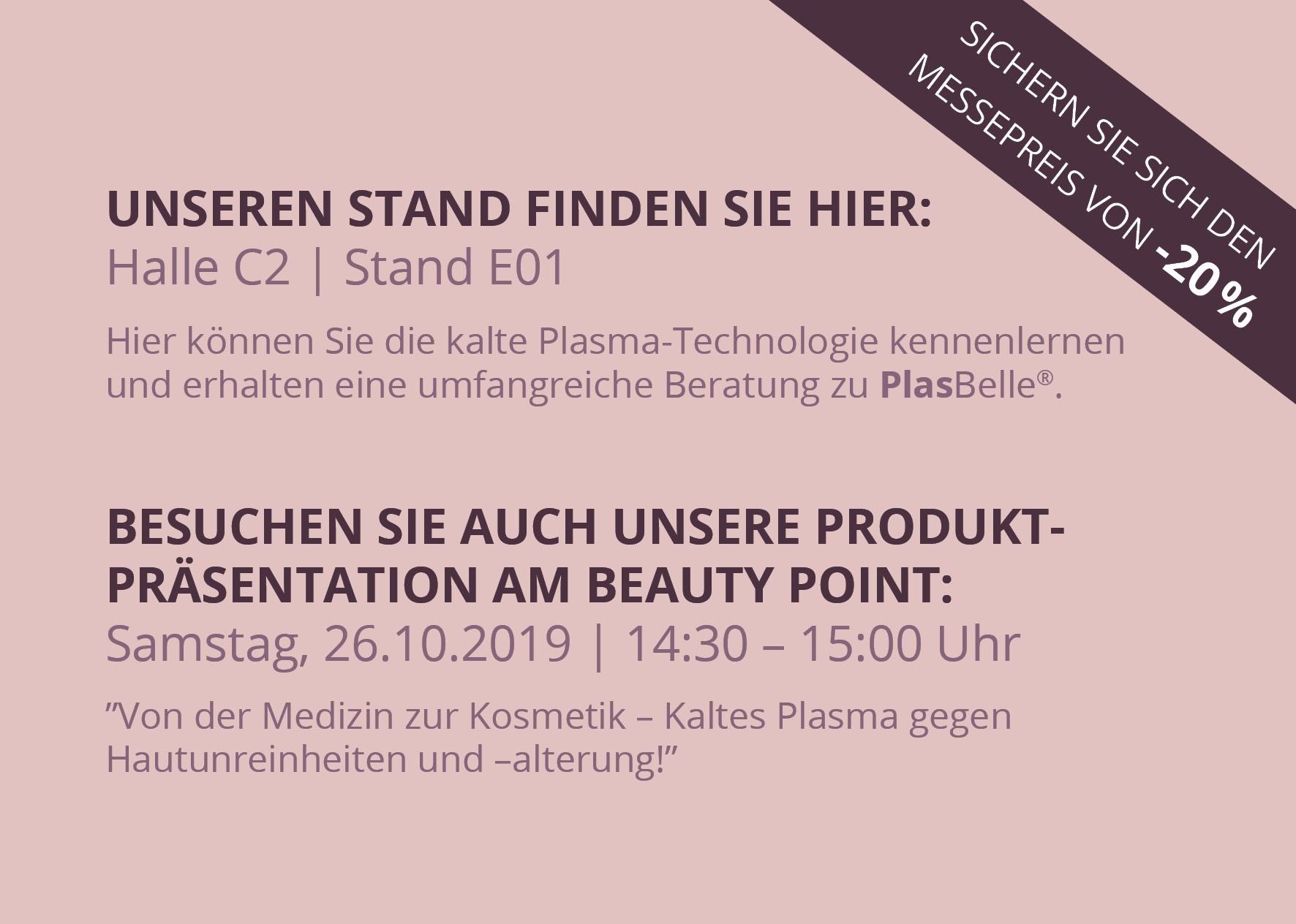 Kaltes Plasma für die Kosmetik auf dem Beauty Forum in München kennenlernen